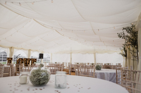 Our 9m x 12m Deluxe Frame Marquee