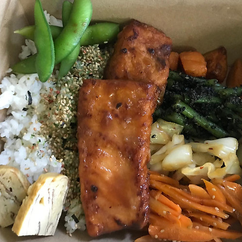 Salmon teriyaki Bento BOx