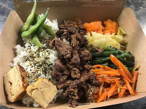 Beef sesame Bento Box