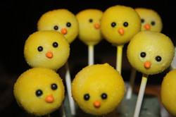 Easter Chick Cakepops