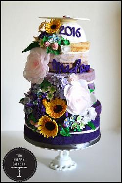 English Garden Naked Cake