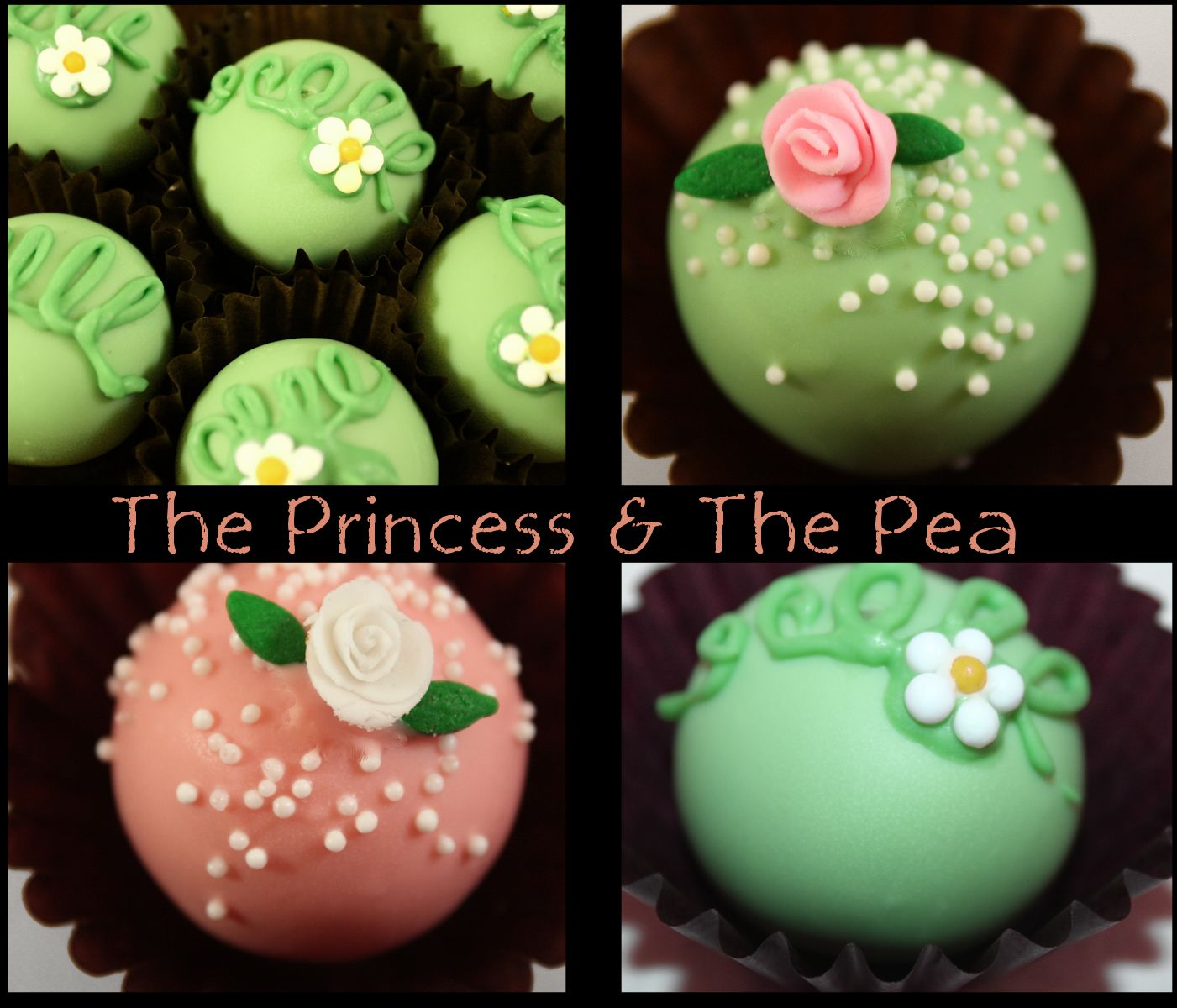 Princess & The Pea Cake Truffles