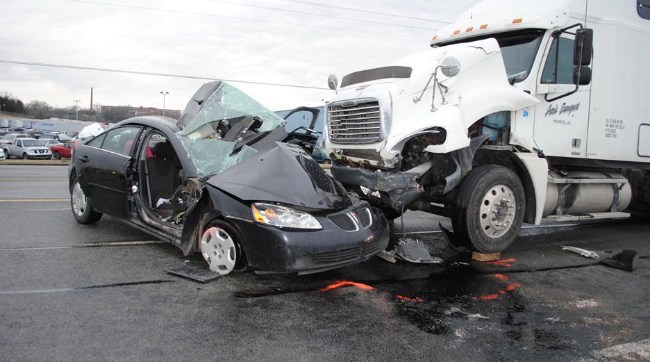 accidente con camión
