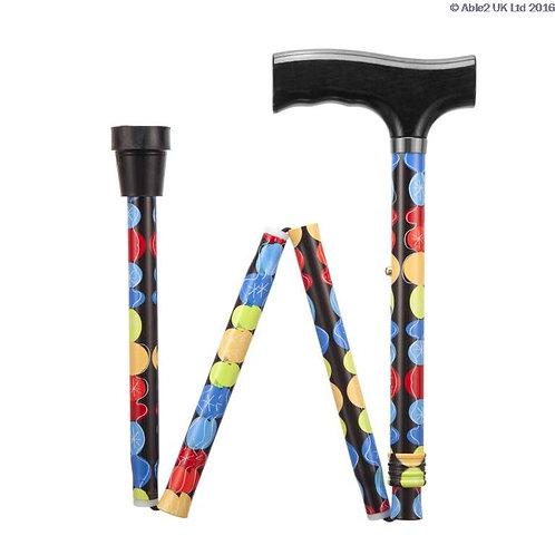 Folding Adjustable Walking Sticks - Bubble  VAT EXEMPT