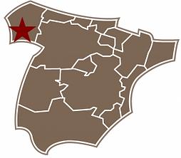 Kaart Spanje Galicië