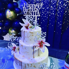 3 Tier 50th Birthday Cake