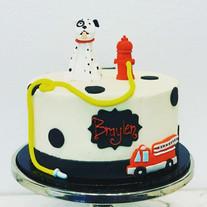 Firehouse Dalmation Cake