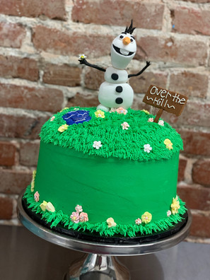 Olaf Over the Hill Cake