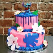 2 Tier Stitch Drip Cake