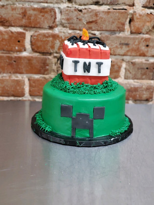 Minecraft Cake with TNT Topper