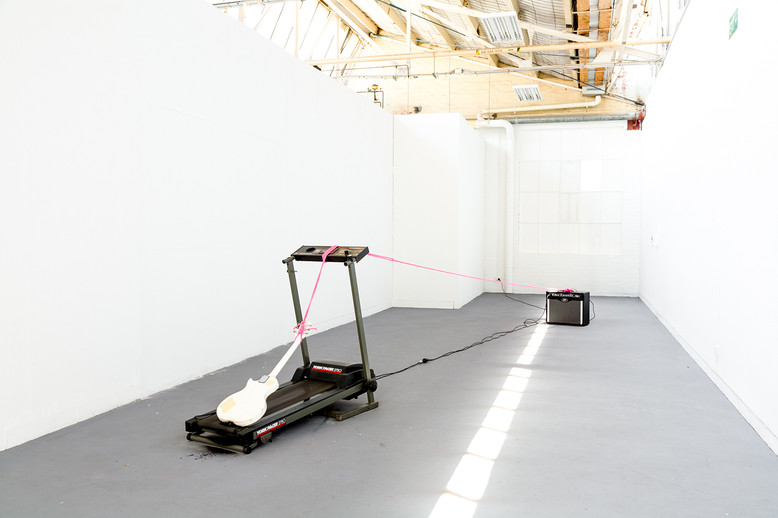 Marclay Schmarclay, Masters Graduate Exhibition,  VCA Sculpture Shed, 2014 Photo by Christo Crocker