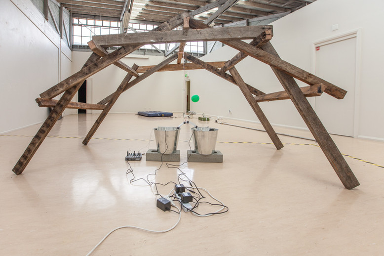 Build a bridge and get over it, Trolley Pole, Travis John and Eric Demetriou, Sawtooth Ari, Launceston 2014