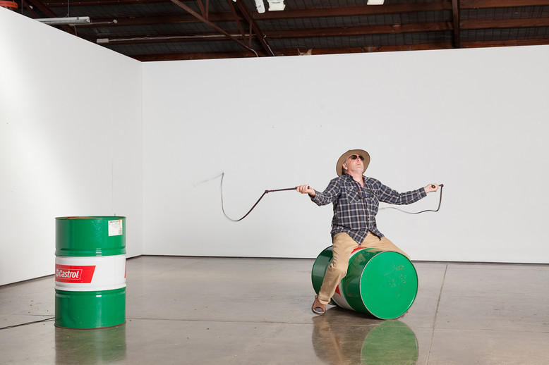 An afternoon with Herb Jercher, Live Performance, Lindberg Gallery. Photo by Christo Crocker