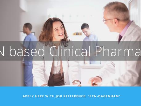 [CLOSED] PCN based Clinical Pharmacist - Dagenham