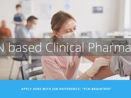 [CLOSED] PCN based Clinical Pharmacist - Braintree