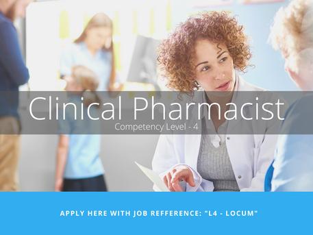 [CLOSED] Level- 4 Locum Clinical Pharmacist