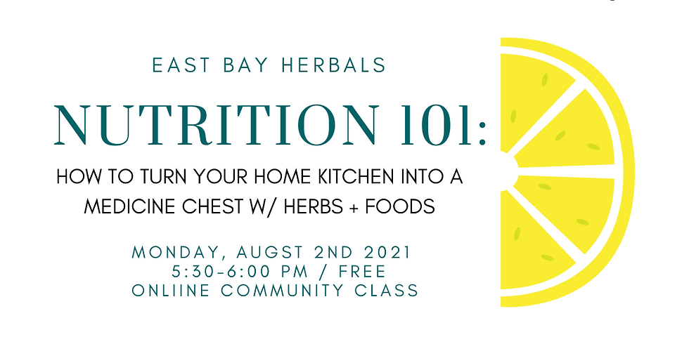 Nutrition 101: How To Turn Your Home Kitchen Into A Medicine Chest Using Food + Herbs