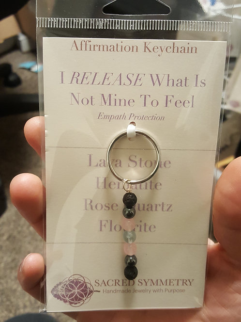 Empath Protection Affirmation Keychain
