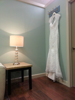 Bridal Gown in Dressing Room