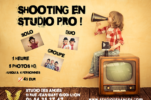 Shooting Solo Duo Groupe 1 heure 5 photos optimisées hd