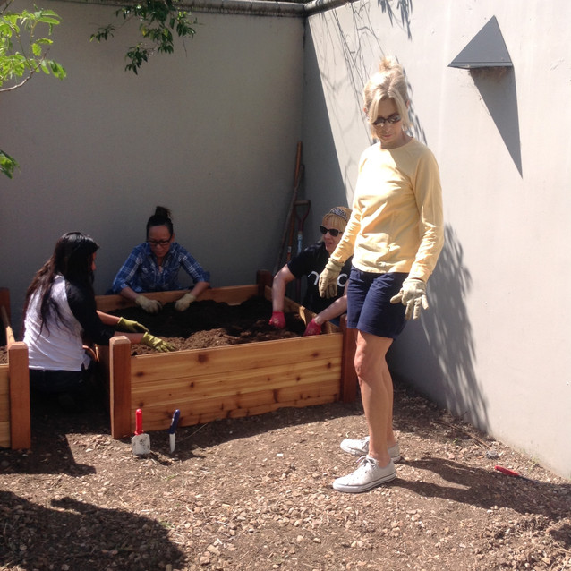 Community Garden at Wilshire Library
