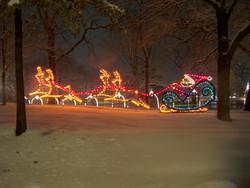 lights santa flying