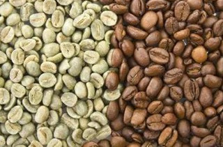 Green & Roasted Coffee Beans