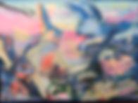 Meine Träume sind Hasen I, 60x80cm, Hinterglas