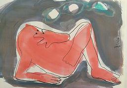 Nachdenken, 60x47cm, Aquarell Papier, 2002