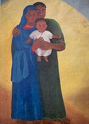 *verkauft* Gestaltung der Apsis in St. Josef, Lützelsachsen, Triptychon 3x 80 x 120 cm Öl/Leinwand pg