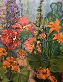 Blumenwesen, 80x110cm Öl auf Nessel, 1994