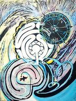 Labyrinth, 60x80cm, Acryl Hinterglas, 2014