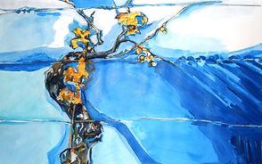 Herbst_Weinrebe, 100x70cm, Acryl Papier, 2013