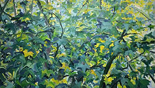 Blätterwald, 120x70cm, Öl Leinwand, 2001