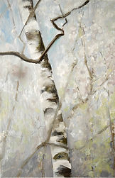 Frühling_birke, 40x60cm, Öl Leinwand, 2015