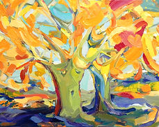 Herbst_Baum, 50x40cm, Öl Leinwand, 2014