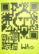 QR WHO, 60x80cm, Edding Papier, 2015