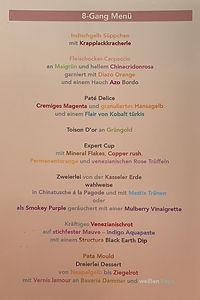 8-Gang Menü, Poster, 60x40 cm, 2021