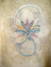 Mondknoten, 50x70cm, Buntstift, 2015