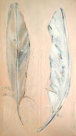 Verliebte Feder, 40x70cm, Alcydharz Nessel, 2014