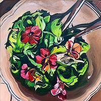 Salat, 40x40 cm, Öl/Leinwand, 2020g