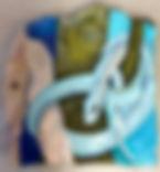 Felsmalerei Adam, 47x52cm, Sand, Pigment, Pappe, Öl,  2016