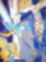 Auferstehung, 60x80cm, Hinterglas Acryl, 2014