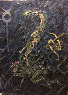 Schlange, 80x120cm, Öl Leinwand, 1994