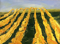 Herbst_Weinfelder, 40x30cm, Öl Leinwand, 2013