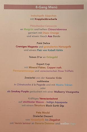 Poster 8-Gang Menü
