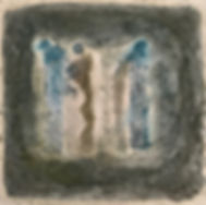 2 oder 3, Mischtechnik/Baumwollzellstoff, 40x30 cm, 2019