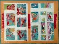 Zeitgeschichten gleich und ungleich, 40x30cm, Acryl Hinterglas, 2014