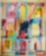 Zeitgeschichten zuhause, 50x60cm, Acryl hinterglas, 2014
