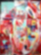 Zeitgeschichten suchen und finden, 60x80cm, Acryl Hinterglas, 2014
